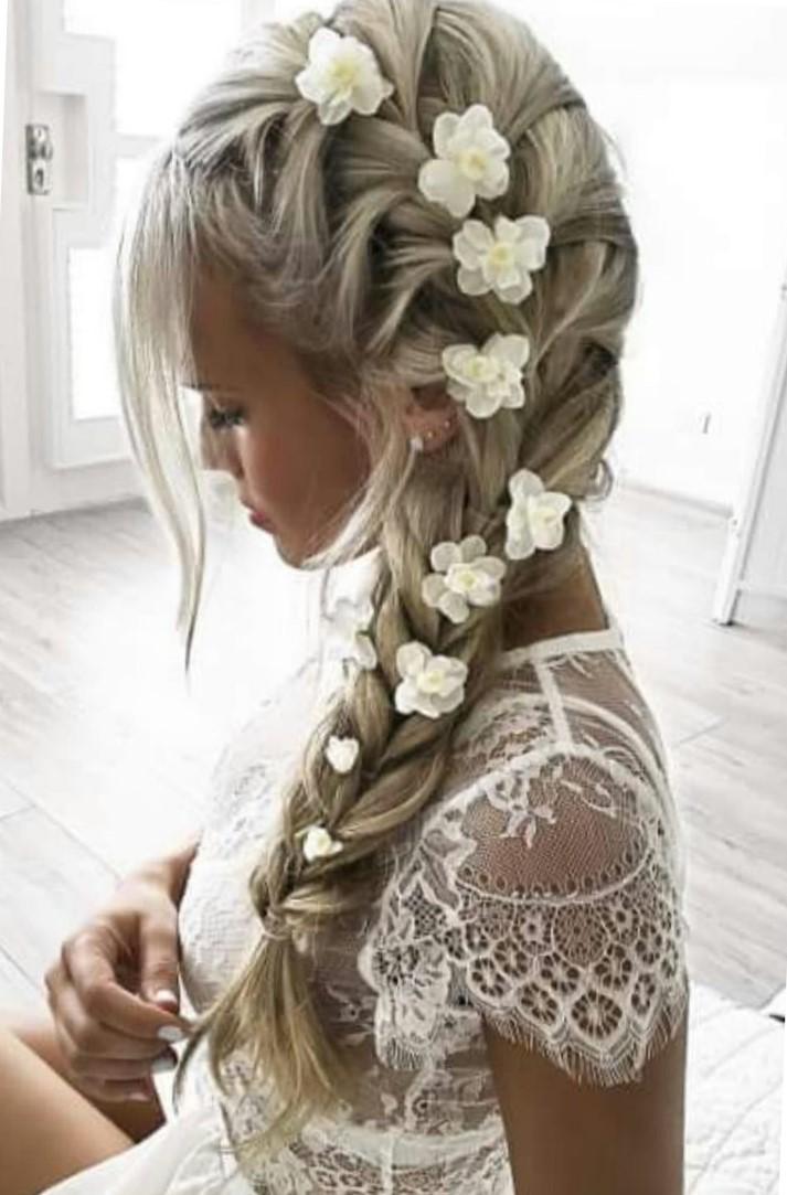 цветы в косе фото